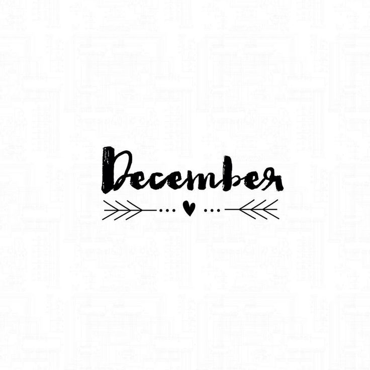 Hello | December | Christmas |❆ | Month | Winter | Typography