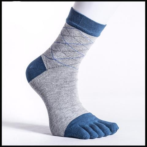Comfortable and Breathable BAMBOO Argyle Dress Toe Socks (6 colors)