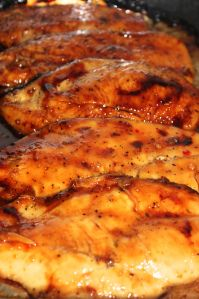 3 Ingredient Baked Chicken Chicken ** Italian Dressing Mix ** Brown Sugar