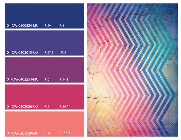 Retro Color Pattern Theme Pinks And Blues Mood Board