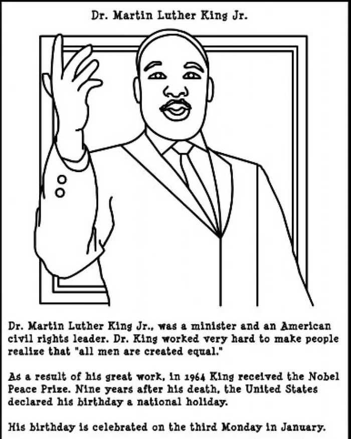 Martin Luther King Jr Day Coloring Pages - Free Coloring Sheets Martin  Luther King Activities, Dr Martin Luther King Jr, Martin Luther King Jr