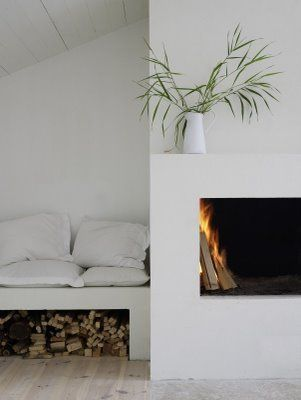 inspiration bubble: minimal fireplaces
