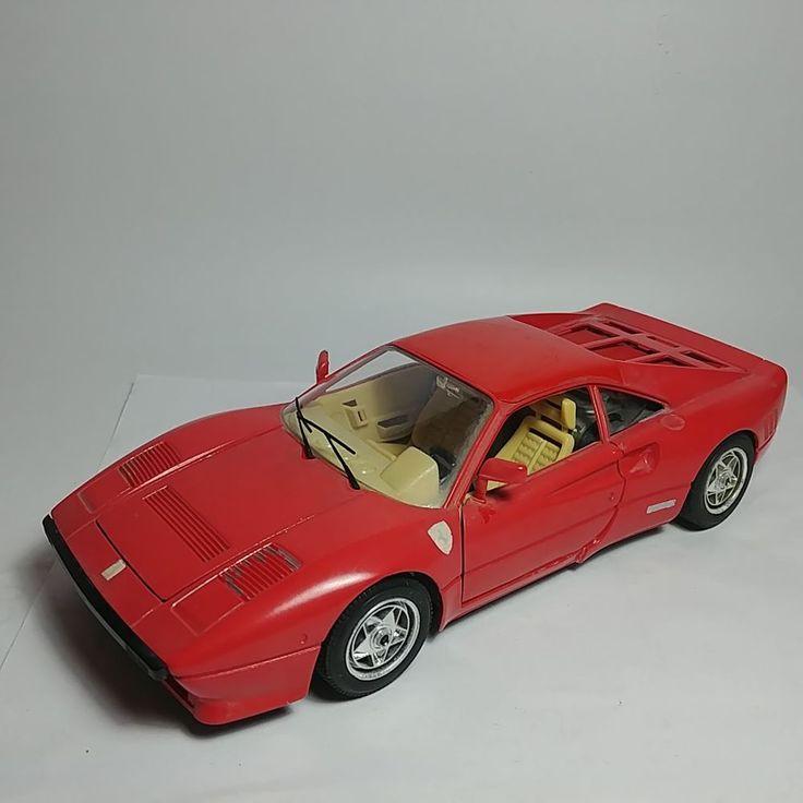 Vintage Bburago Red 1984 Ferrari GTO 1:18 Scale DieCast Model Car Made in Italy #Bburago #Ferrari