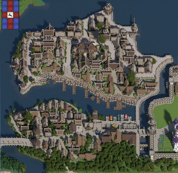 красивая карта города майнкрафт #10