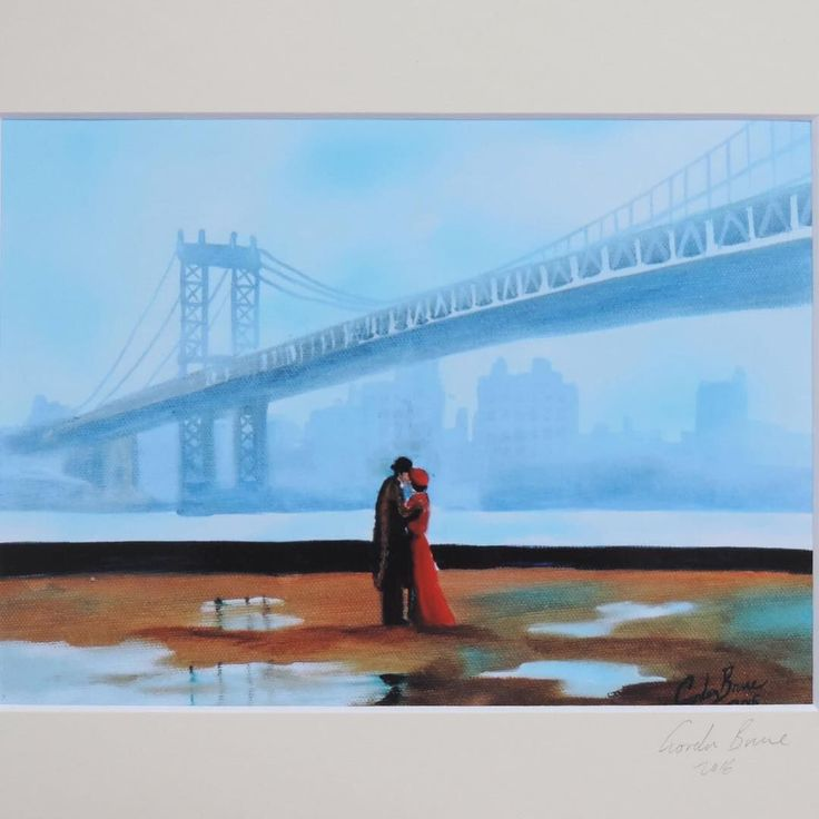 New York couple signed mounted print  #art #painting #couple  http://crwd.fr/2Cx8CWu