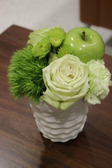 Green apple centerpieces | Mixed Green Decor, Green Centerpieces, Green Apple Centerpieces,
