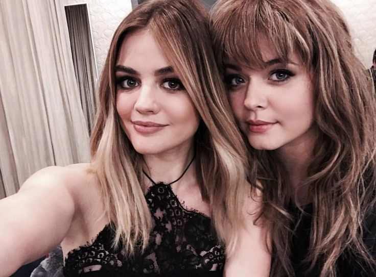 Lucy and Sasha looking extremely beautiful