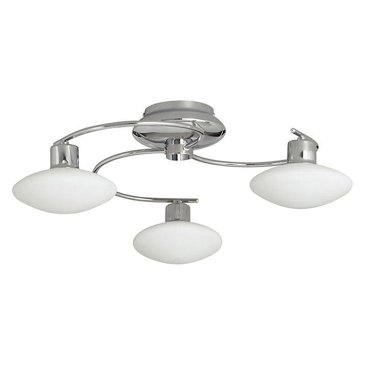 Buy John Lewis Tameo 3 Arm LED Ceiling Light, Chrome/Opal Online at johnlewis.com