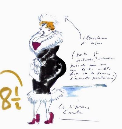 drawing by Federico Fellini