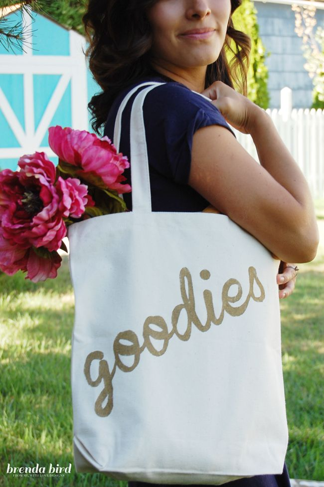 DIY canvas tote bags