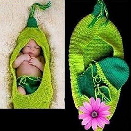 Smartstar a Forma Di Piselli Bambino Neonato Handmade Crochet Beanie Cappello Vestiti Fotografia Puntelli Costume: Amazon.it: Prima infanzia