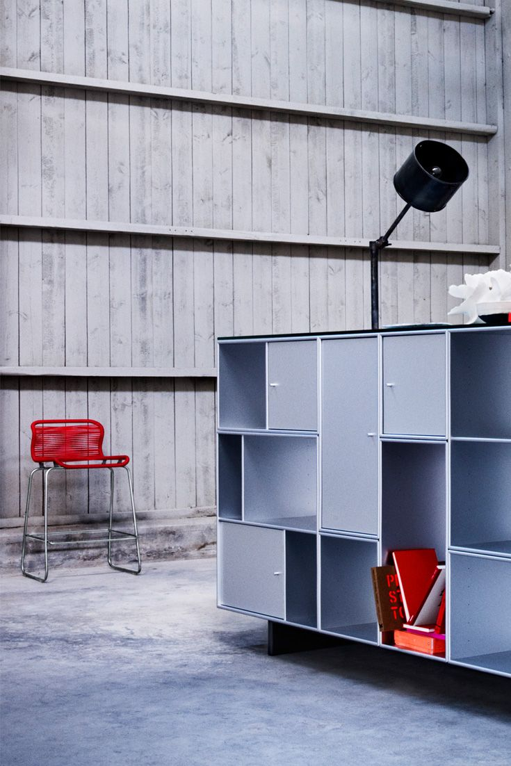 Montana in aluminium veneer. #montana #furniture #danish #design #interior #panton #chair