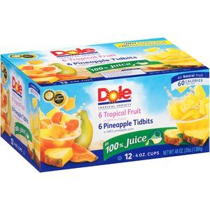 Dole Tropical Variety Fruit Cups, 4 oz, 12 count