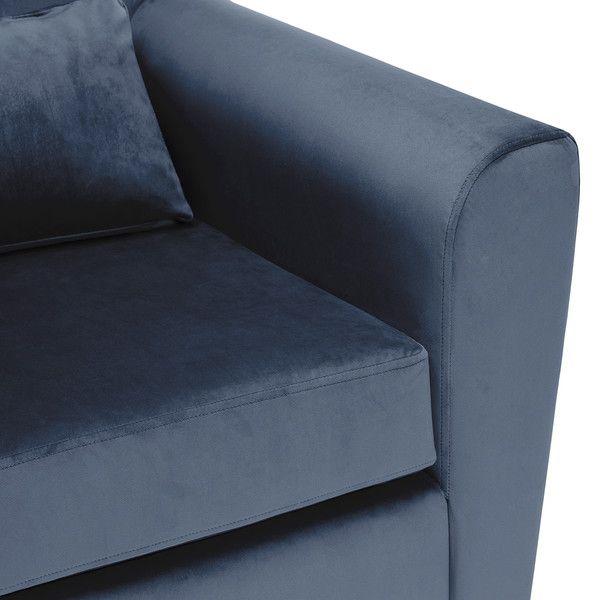 Marseille Accent Armchair In Luxor Blue Velvet In 2020 Blue