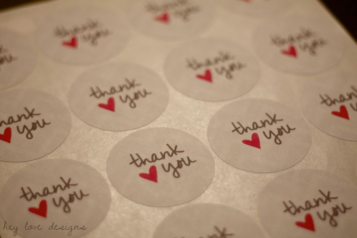 Free Printable: Thank You Tags and Stickers | Hey Love Designs