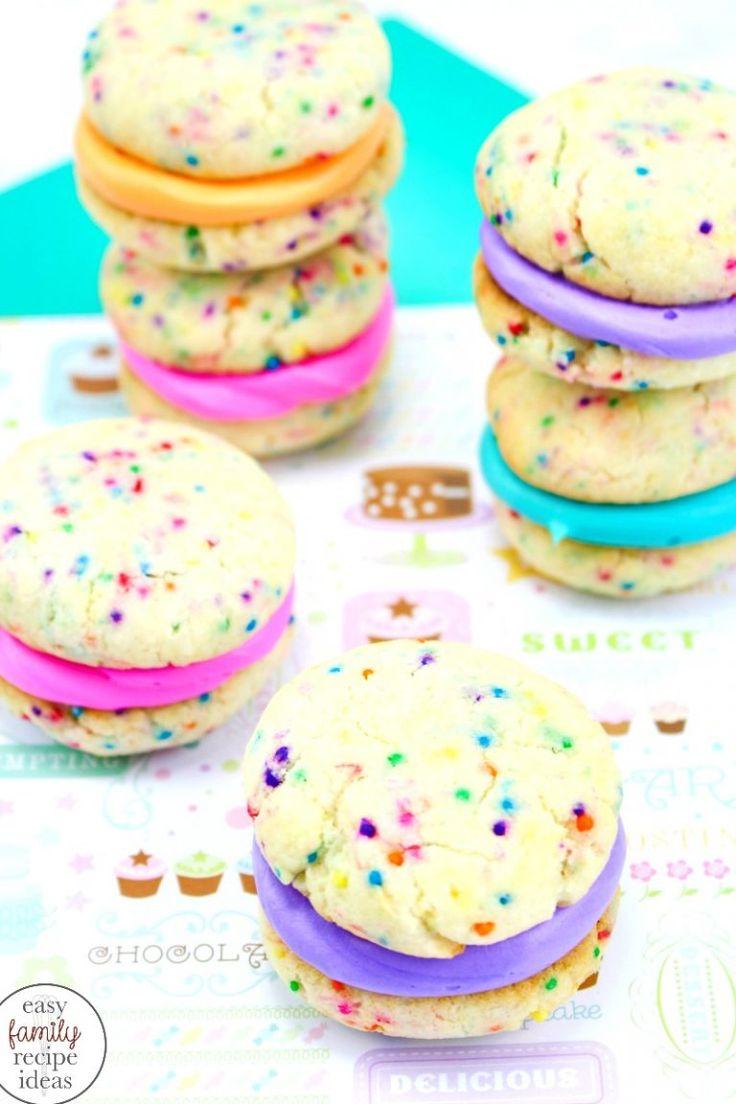 Cake mix whoopie pies the best rainbow whoopie pies