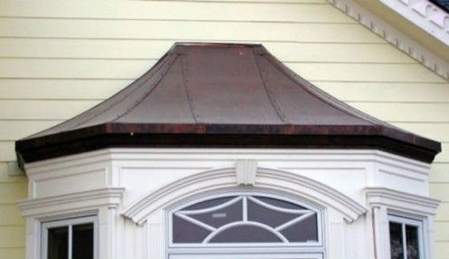 Bay Window Roof Covering Custom Seamed Copper Bay Window