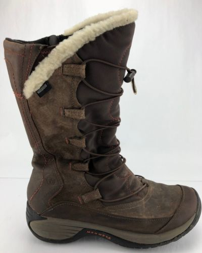 7b1b9491 Details about SOREL Womens Boots Sz 9 Brown Leather Rubber Wool Snow ...