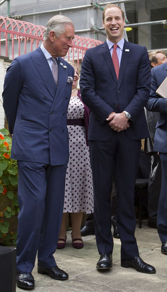 Prince William, Duke of Cambridge (R) and his father Prince Charles, Prince of Wales attend a reception to thank The Prince of Wales for his 40-year tenure as the British Sub-Aqua Club (BSAC) Presidency and welcome The Duke of Cambridge as their new President on July 9, 2014 i