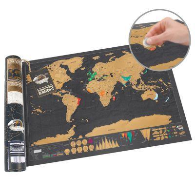 Hol Dir die Weltkarte zum Rubbeln im Reiseformat und Du erhältst eine edle und hochwertige Karte im nostalgischen Flair. Für Reise-Fans ein optimales Geschenk.via: www.monsterzeug.de