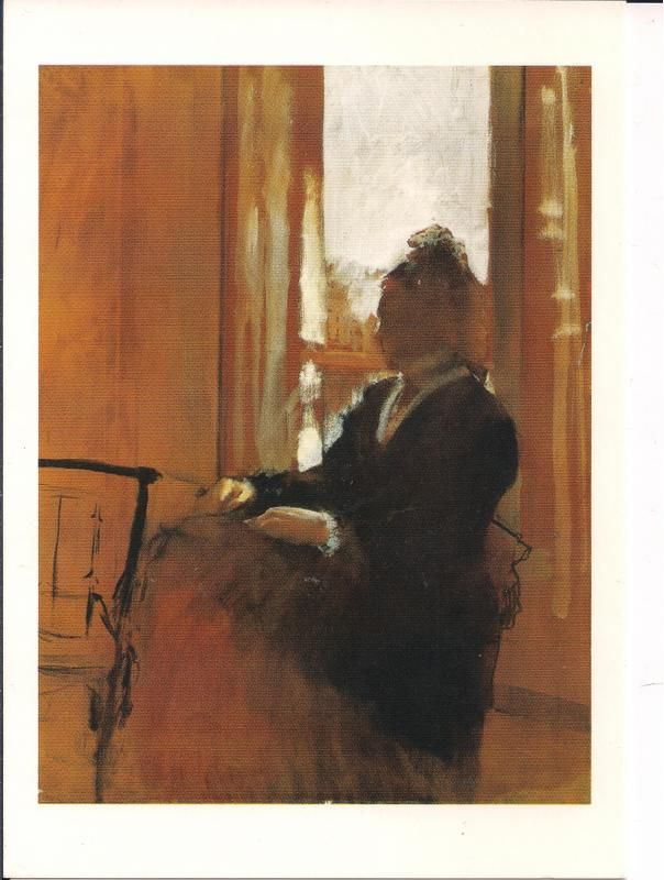 Edgar Degas: Woman at a Window (c. 1871-72) - Courtauld Gallery London