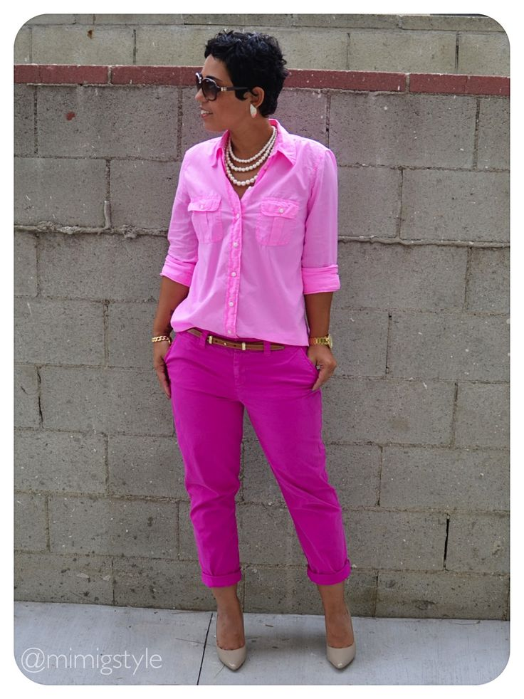 Pretty In Pink + How to Wear ONE all over color. Post & Links HERE: http://mimigoodwin.blogspot.com/2012/10/ootd-pretty-in-pink.html #Gap