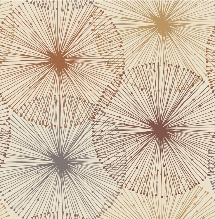 radiating organic colour. #wallpaper inspiration #circles #prints #graphics #textiles #interiordesign