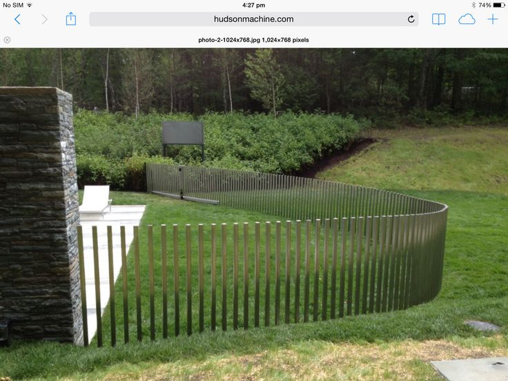 Great pool fence. Would look good in timber.