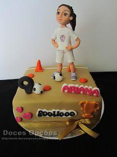 Doces Opções: Bolo do aniversário da futebolista Ariana