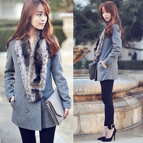 JULLIANNE YOON - Vintage Coat, Zara Leggings, Forever 21 Shoes - KEEP CALM AND STAY CLASSY