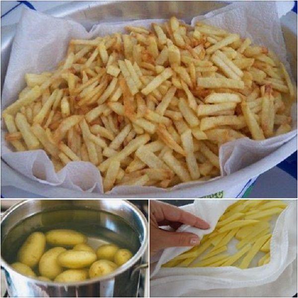 Batata frita crocante sem nenhuma gota de óleo