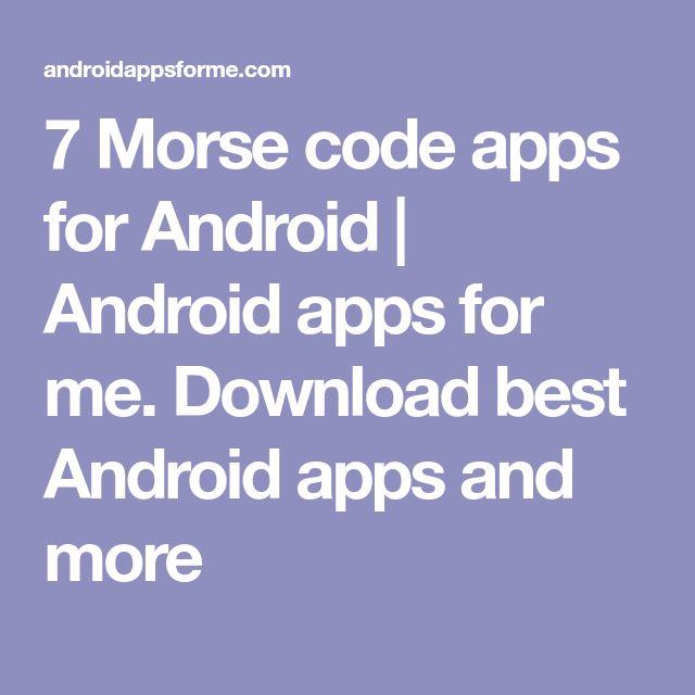 The 25+ best Morse code app ideas on Pinterest Morse code tattoo - sample morse code chart