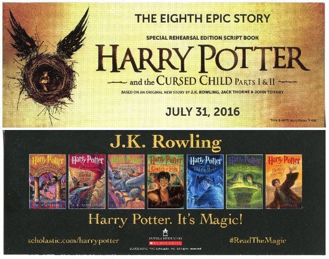 Harry Potter and the Cursed Child Parts I & II - 2016