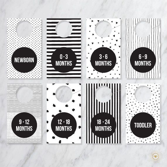Modern Black And White Baby Closet Dividers Baby Clothes