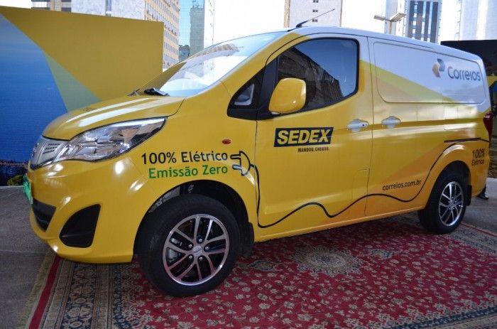 Correios irão testar veículo elétrico da BYD do Brasil