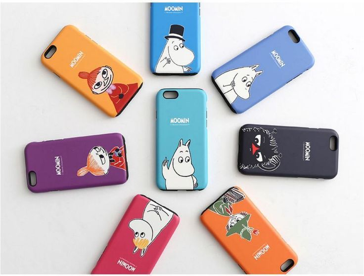 MOOMIN Cell Phone Dual layer Protect Case Cover Protector For Galaxy S6/S7/edge #MOOMIN