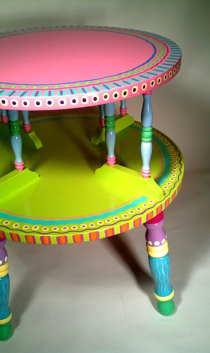 Funky painted furniture ideas - Sold Sample Of Custom Work Side Table Hand Painted Furniture Made To Order