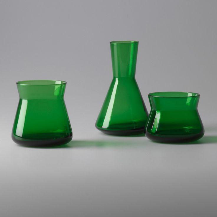 Trio Vas set 3-pack, Mörkgrön, Design House Stockholm