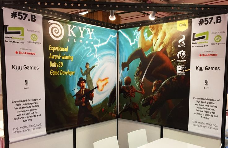 "Kyy Games on Twitter: ""Check out the Kyy Games booth from #GameConnection this week. A big thank you to everyone we've met! #GCE16 @the_gameco #GameDev https://t.co/s5PjQpm7kB"""