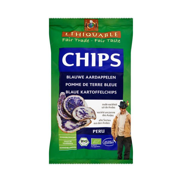 Ethiquable Chips Blauwe Aardappelen 100g - Chips