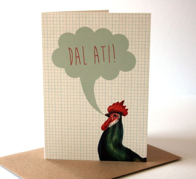 Welsh Dal Ati Keep Going Eco Friendly Art Greeting Card £2.25