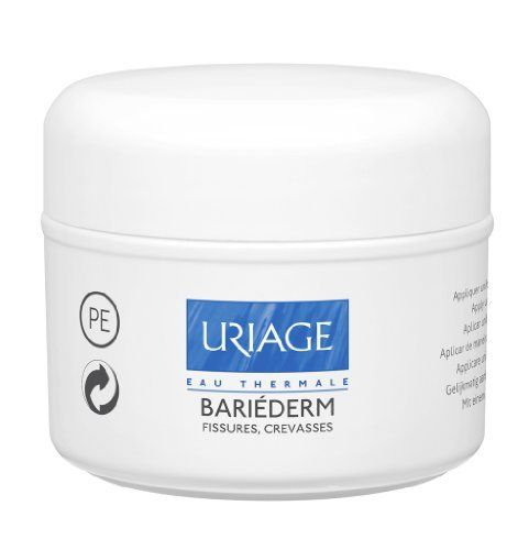 """Uriage Bariéderm Fissures, Cracks 40 Gr. by Uriage Bariéderm Fissures, Cracks 40 Gr.. $27.00. ?Recent or old cracks or fissures with or without rough skin on the hands, feet, elbows and knees.... Properties: Bariéderm Fissures, Cracks is the first """"barrier"""" ointment containing Poly-2p: an exclusive patent specifically created by Laboratoires Dermatologiques d'Uriage. The combination of two polymers results in four properties, with proven efficacy: an isolatin..."""