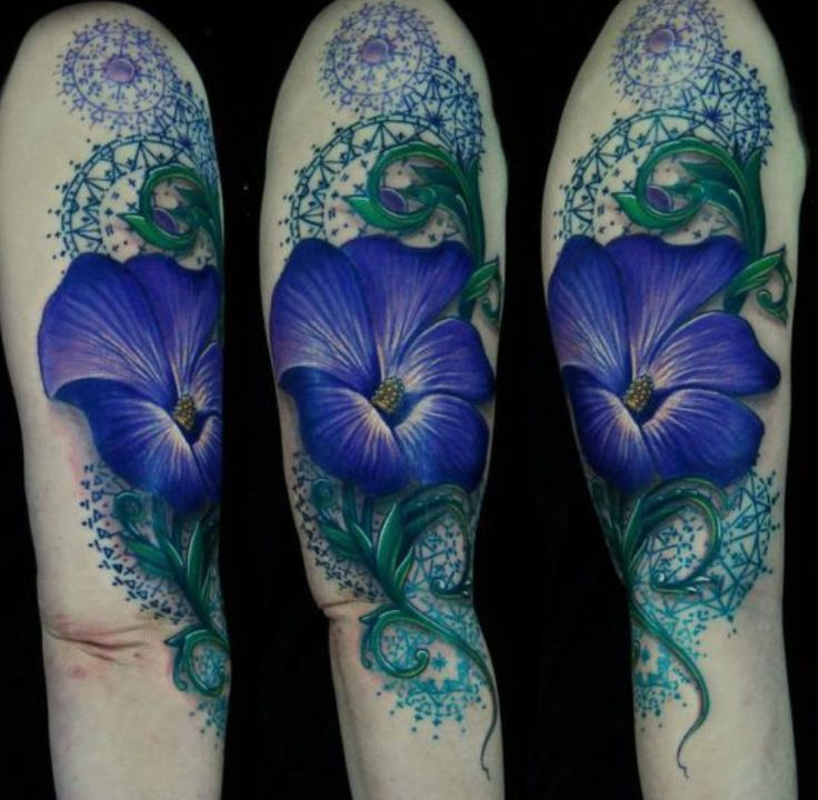 Morning glory tattoo -- September's birth flower