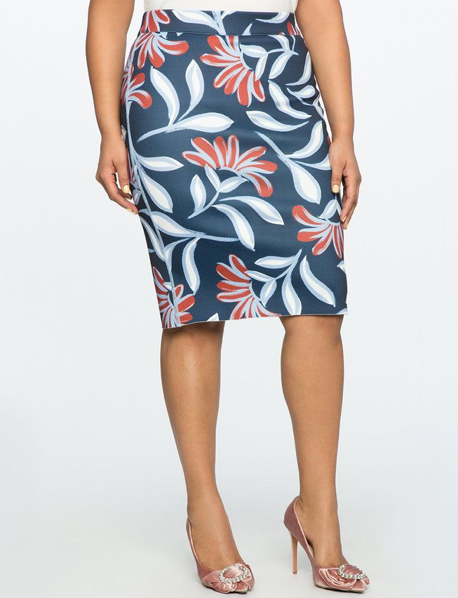 cd5dbcb30 Reversible Neoprene Pencil Skirt   Women's Plus Size Skirts ...