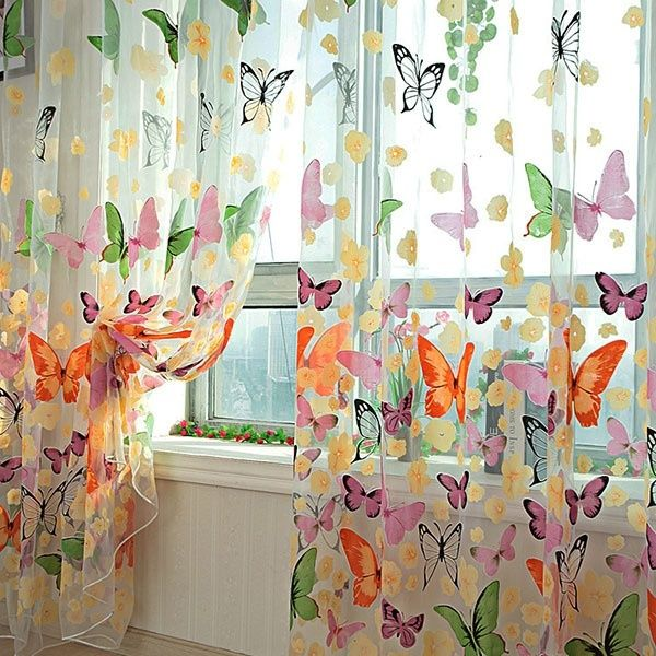 Floral Butterfly Sheer Curtains | LazadaPH