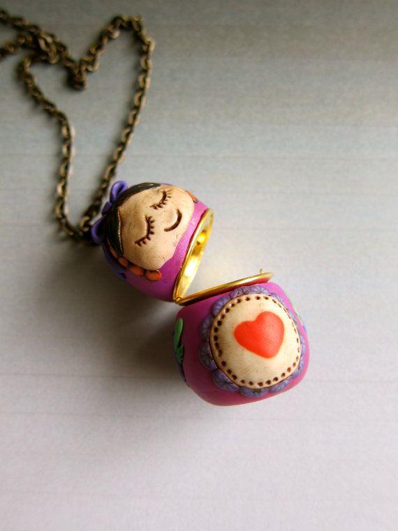 from a locket into a matrioshka pendant