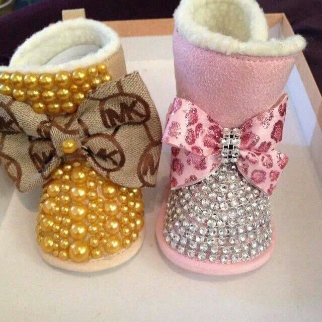 Rhinestones on booties