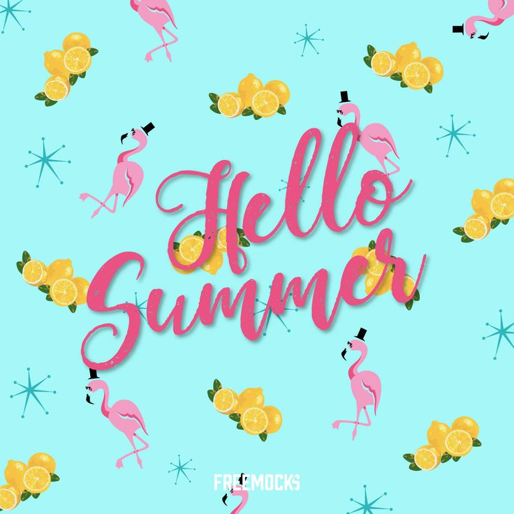 Hello Summer Vector - https://goo.gl/7uUYSC