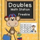 FREE Use this doubles math station activity to give your students extra practice with doubling and adding.