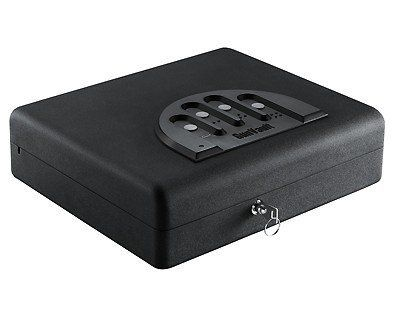 GunVault MicroVault-XL-Bio Gun Safes & Accessories MVB1000 by GunVault. $264.99. MicroVault-XL-Bio Rock-solid Construction: - Protective foam-lined interior - Convenient elastic strap with pockets for extra storage - High-strength lock mechanism performs reliably time after time - 18-gauge steel construction Foolproof Security: - Precise fittings are virtually impossible to pry open with hand tools - Built-in computer blocks access after repeated invalid keypad entries (Digi...